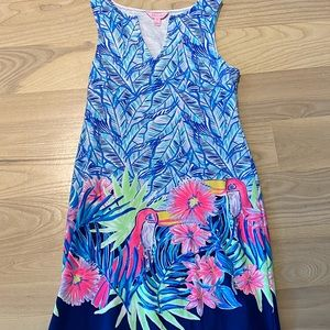 Lilly Pulitzer Harper Shift in Blue Let's Mango